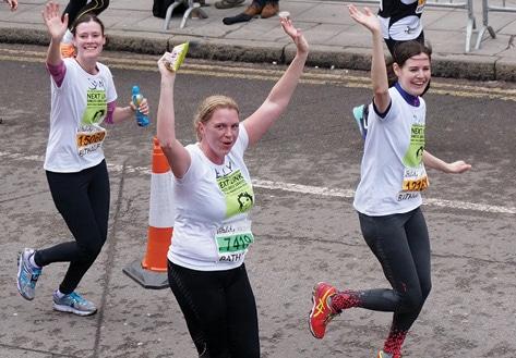 Next Link supporters run Bath Half Marathon
