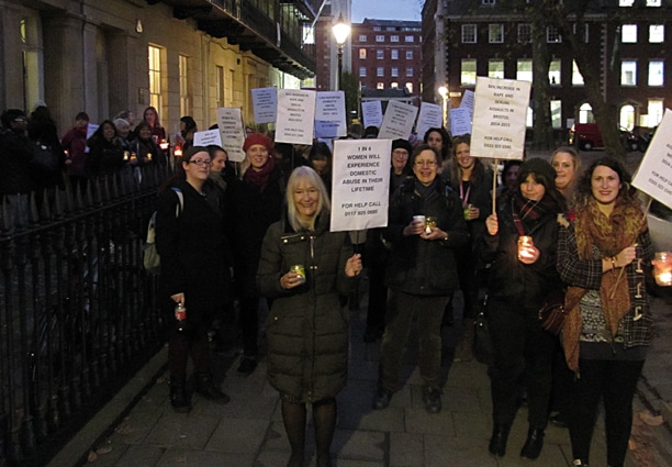 Our annual candle lit vigil generated an increase in women seeking help.